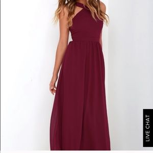 Lulus burgundy dress